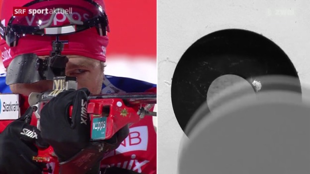 Video «Biathlon: Weltcup Männer in Östersund» abspielen