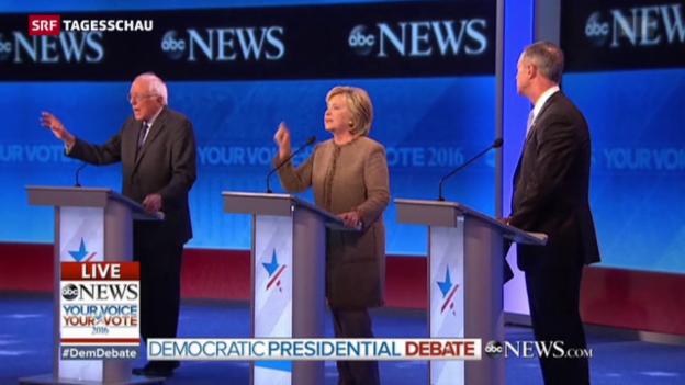 Video «Clinton demonstriert Stärke» abspielen
