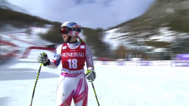Video «Ski: Riesenslalom Frauen Val d'Isère, 1. Lauf von Tina Weirather» abspielen