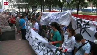 Video «Proteste in Tianjin» abspielen