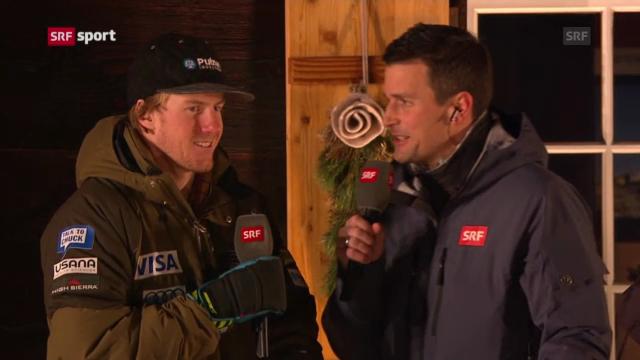 Ski: Interview mit Adelboden-Sieger Ligety (Teil 1, «sportaktuell»)