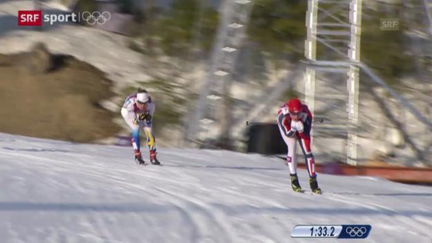 Video «Langlauf: Zusammenfassung Sprint-Final Männer («sotschi aktuell», 11.02.2014)» abspielen