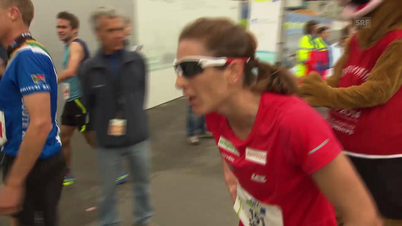 LA: Zürich Marathon, Zieleinlauf Ursula Spielmann und Nicola Spirig