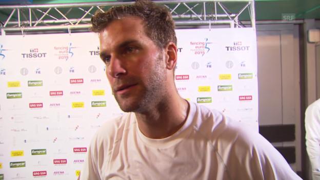 Video «Fechten: EM in Montreux, Interview mit Benjamin Steffen» abspielen