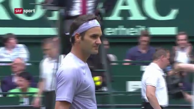 Video «Zusammenfassung Federer - Stebe» abspielen