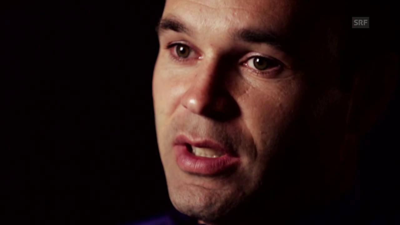 Fussball: Champions League, Andres Iniesta vor dem Duell gegen Bayern