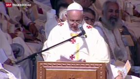 Video « Papst Franziskus im Heiligen Land» abspielen