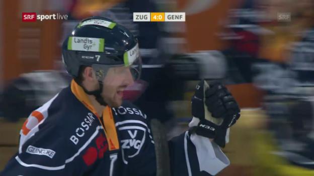Video «McIntyres Hattrick gegen Genf-Keeper Mayer» abspielen