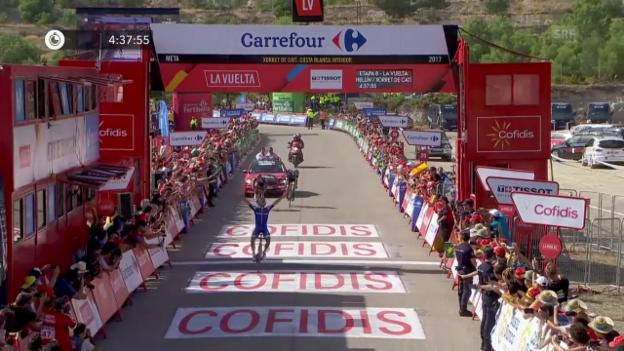 Video «Vuelta: Alaphilippe und Froome glänzen am Tag 8 (SNTV)» abspielen