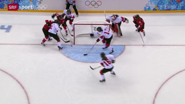Video «Eishockey: Halbfinal Schweiz - Kanada» abspielen