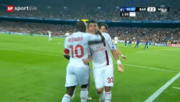 Video «CL: Highlights Barcelona - Milan («sportlive»)» abspielen