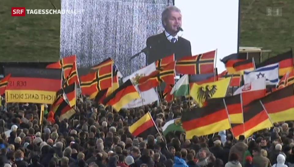 Trotz Wilders - Die Pegida verliert Demonstranten