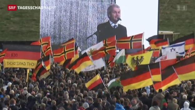 Video «Trotz Wilders - Die Pegida verliert Demonstranten» abspielen