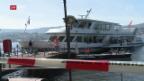 Video «Schiffsunfall auf dem Zürichsee» abspielen