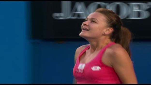 Video «Matchball Radwanska-Ivanovic (unkommentiert)» abspielen