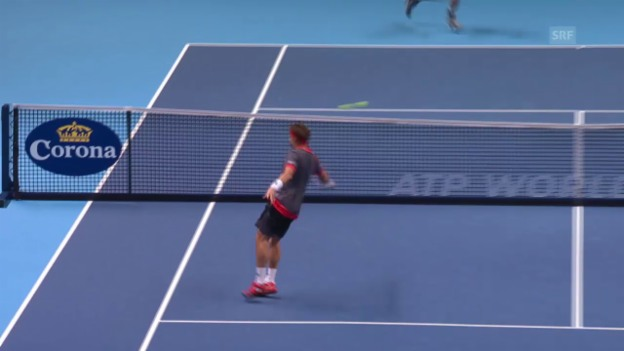 Video «Tennis: ATP-Finals in London, 1. Gruppenspiel, Murray - Ferrer» abspielen