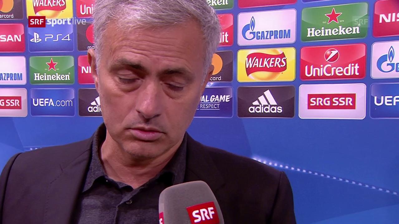 Mourinho: «War ein bisschen verärgert.» (engl.)