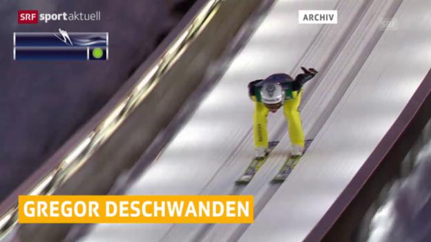 Video «Skispringen: Deschwanden in Wisla auf Rang 18.» abspielen