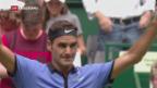 Video «Federer gewinnt Auftaktmatch in Halle» abspielen