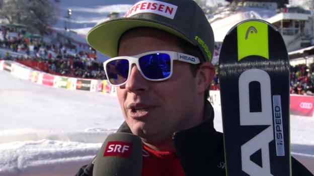 Video «Beat Feuz im Interview nach dem Super-G von Kitzbühel» abspielen