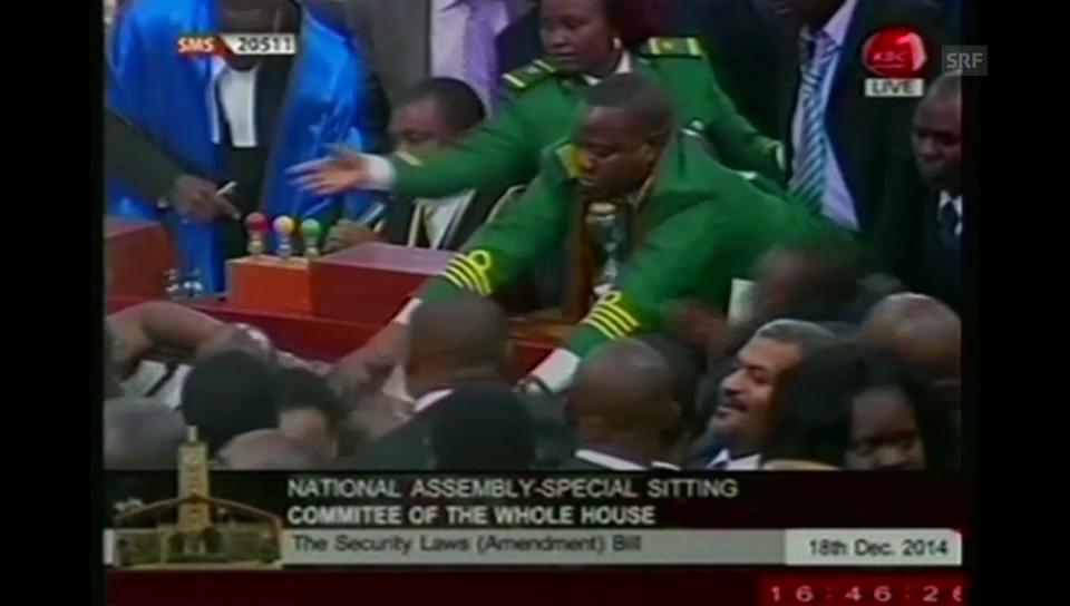 Tumult in kenianischem Parlament