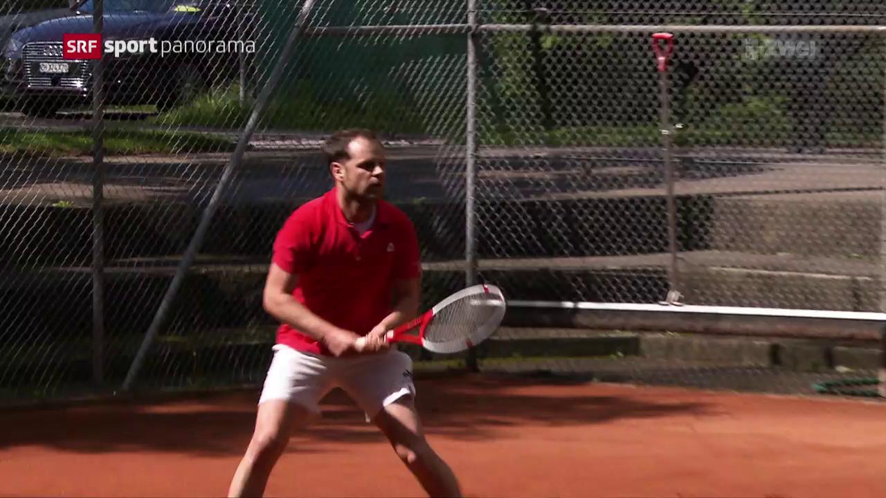 Severin Lüthi als Jungsenior zurück auf dem Court