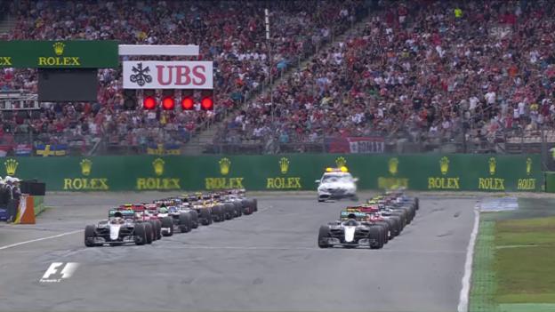 Video «GP Deutschland: Pole-Rosberg verpatzt den Start» abspielen