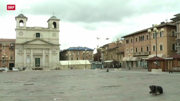 Video «L'Aquila in Trümmern: Vier Jahre nach dem Erdbeben» abspielen