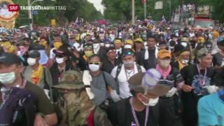 Video «Massenproteste in Thailand» abspielen