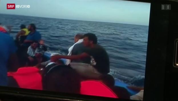 Video «Libyen: Auch 2015 Drehscheibe des Schlepperwesens» abspielen