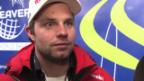 Video «Ski alpin: WM 2015 in Vail/Beaver Creek, Interview mit dem Abfahrts-Dritten Beat Feuz» abspielen