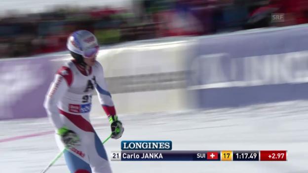 Video «Ski: Riesenslalom Sölden, 1. Lauf Carlo Janka» abspielen