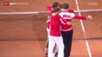 Video «Tennis: Schweiz gewinnt den Davis Cup» abspielen