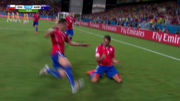 Video «Chile-Australien: Die Highlights» abspielen
