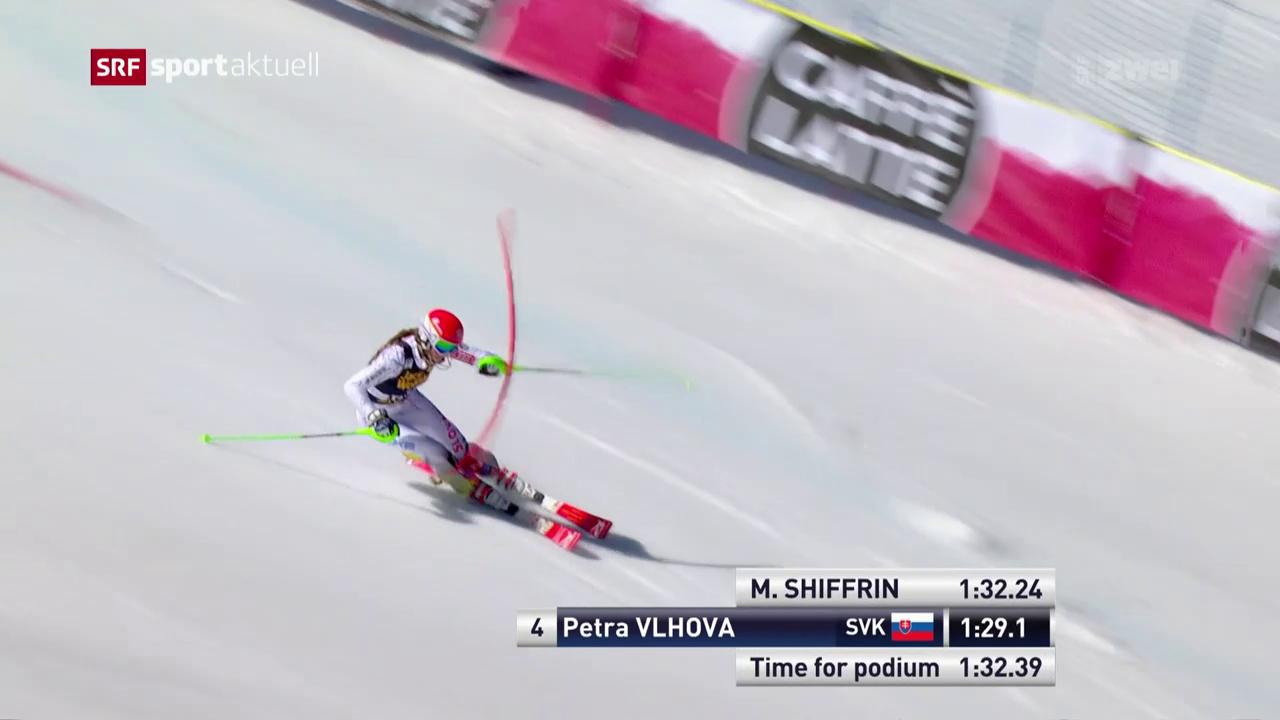 Seltenes Bild: Shiffrin im Slalom geschlagen
