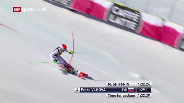 Video «Seltenes Bild: Shiffrin im Slalom geschlagen» abspielen