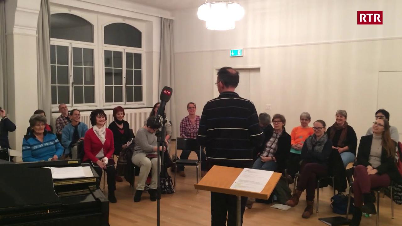 Jürg Wasescha dirigia il chor maschadà Turitg
