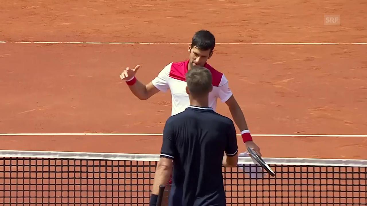 Djokovic - Klizan: Die wichtigsten Ballwechsel