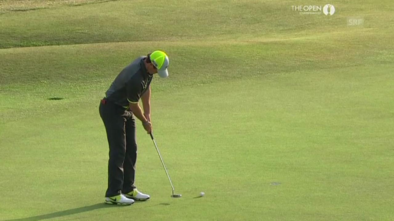 Golf: Die Birdies von Rory McIlroy auf den letzten beiden Löchern (Quelle: SNTV)
