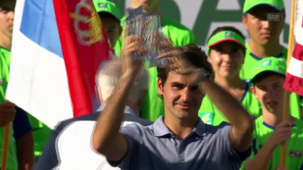 Video «Zusammenfassung Federer - Djokovic («tagesschau»)» abspielen