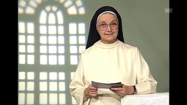 Video «Ausschnitt: Wort zum Sonntag von einer Nonne (27.1.2001)» abspielen