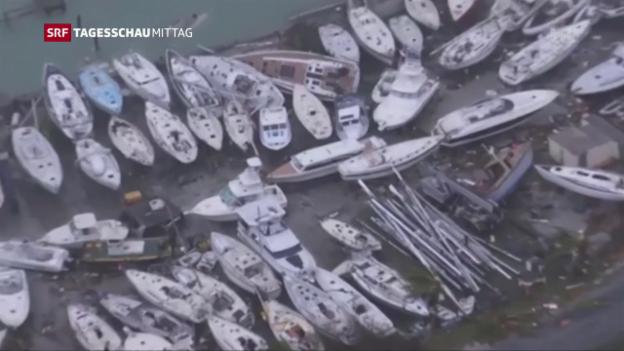 Video «Irma braust über die Karibik hinweg» abspielen