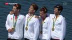 Video «Olympiagold für die Schweizer im Leichtgewichtsvierer» abspielen