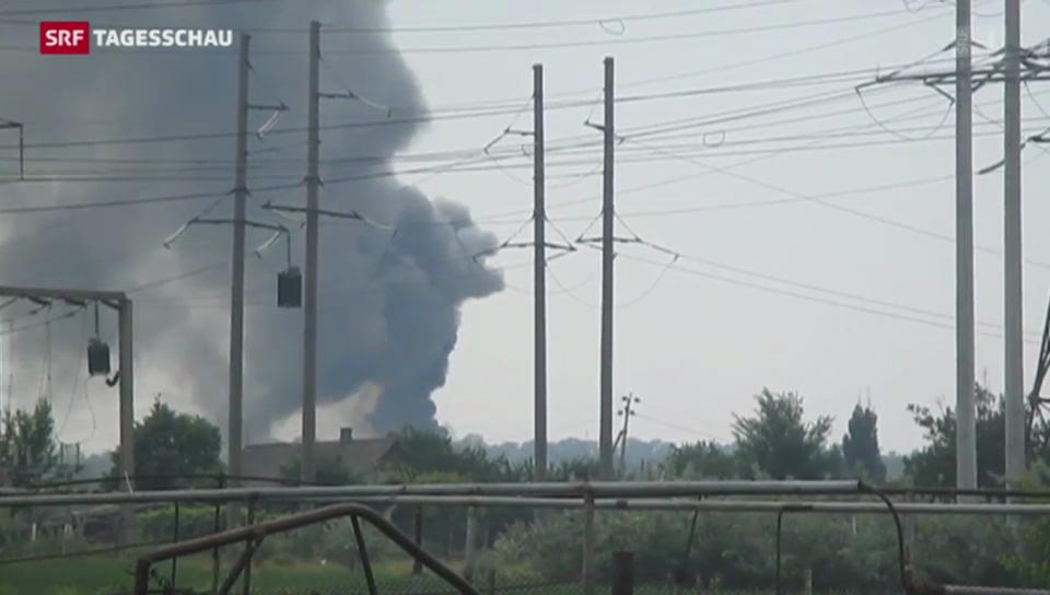 Ukrainischer Armee-Helikopter abgeschossen