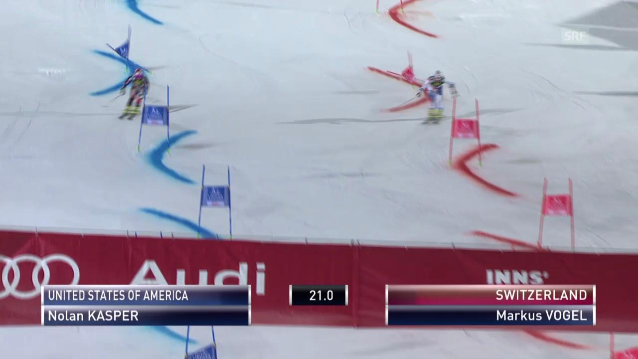 Ski: Team Event Innsbruck, kleiner Final Markus Vogel - Nolan Kasper («sportlive», 25.02.2014)