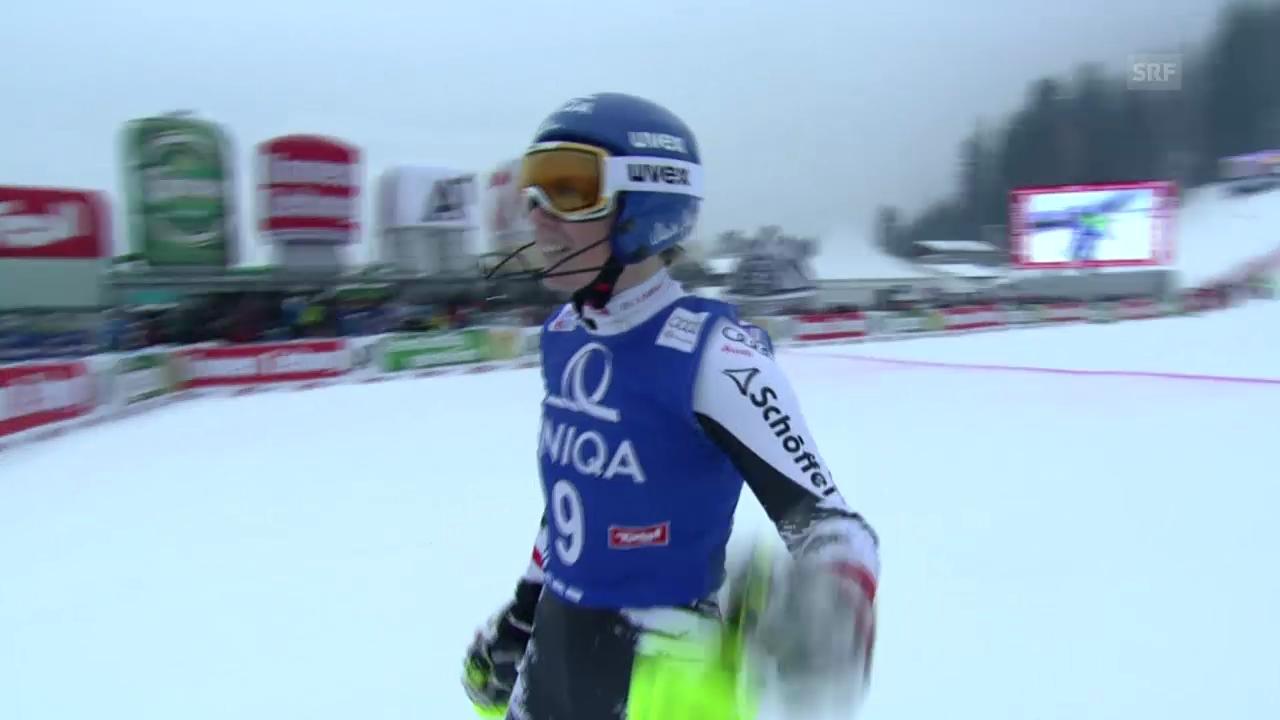 Ski: Slalom Frauen Lienz («sportaktuell» vom 29.12.2013)