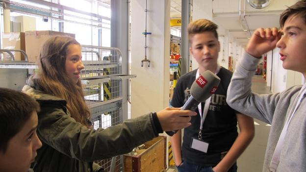 Zukunftstag: Jungreporter beragen Jugendliche (13.11.2014)