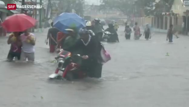 Video «Erste Ausläufer von Hagupit erreichen Manila» abspielen