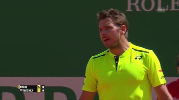 Video «Wawrinka scheitert in Monte-Carlo an Nadal» abspielen