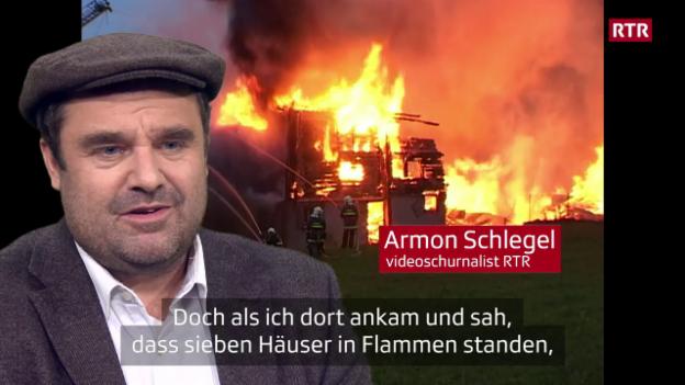 Laschar ir video «Incendi grond a Flem - nus eran là, vus eras là»